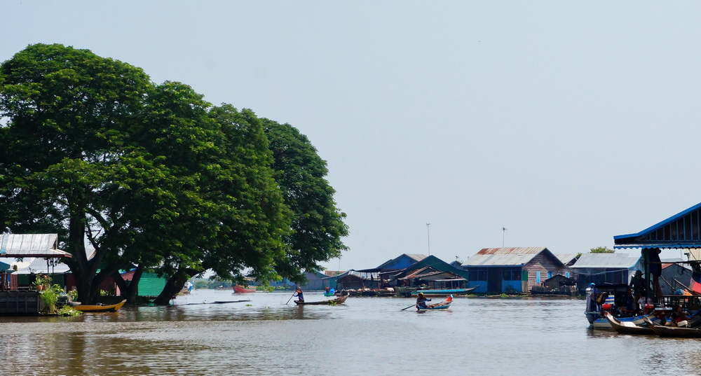 Le lac Tonlé Sap, Cambodge